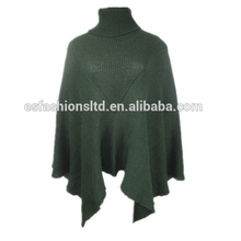 New arrival winter ladies casual wool solid poncho