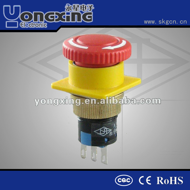Why all customer choose 16mm waterproof emergency stop pushbutton switch