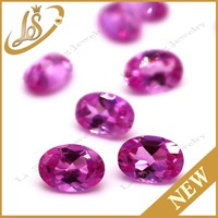Loose oval shape diamond cut gemstone ross red cz stones for jewelry