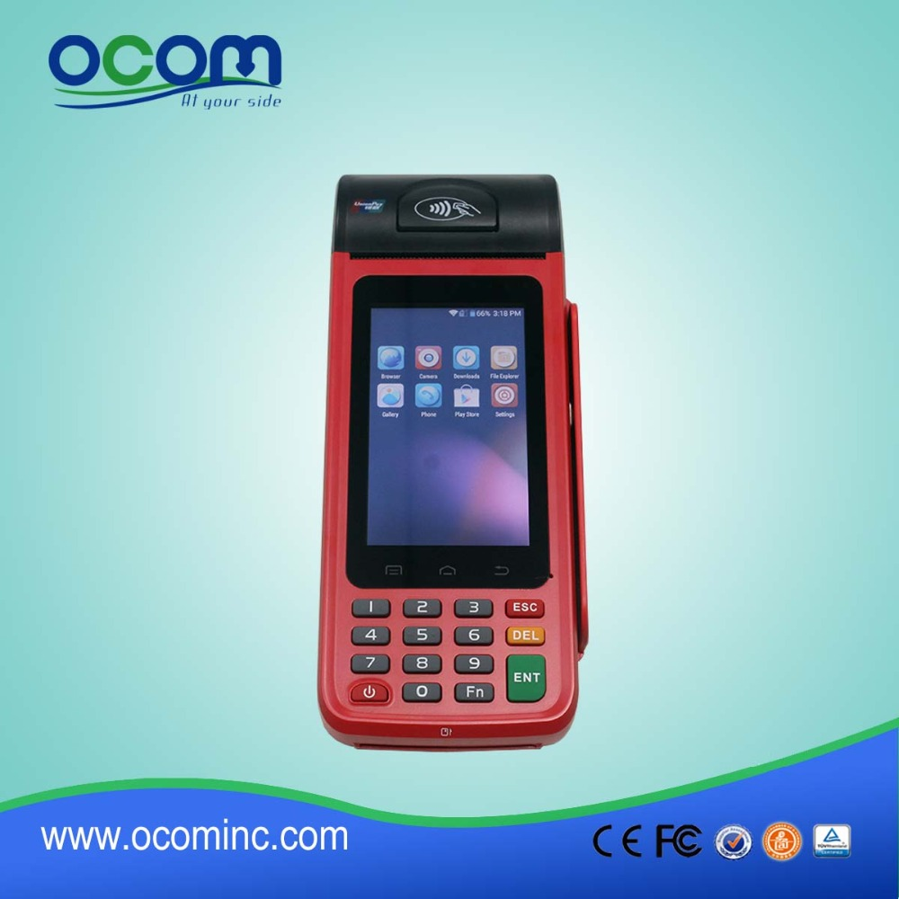 EMV handheld android rfid pos terminal with printer