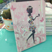FL2826 2013 Guangzhou hot selling stand diamond crystal wallet leather flip case with card holder for ipad air