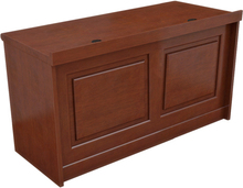 government or company meeting room wooden rostrum