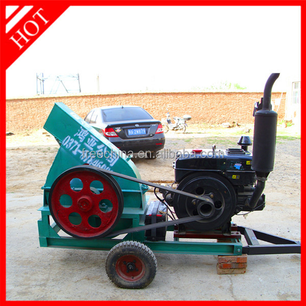 wood chipping machine used /wood log cutter and splitter /wood cutter