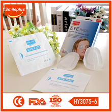 Soft and free treat eye injuries sterile FDA And CE high quality non-woven eye pads