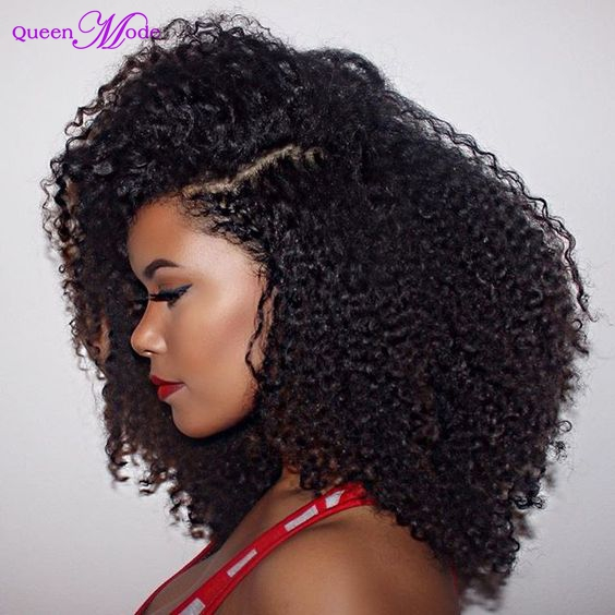 Unprocessed Lardge Stock Good Quality Afro Kinky Curly Half Wigs