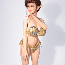 130cm silicone mini big breast slim waist solid sex doll