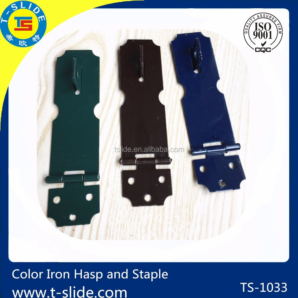 TS Haining manfuactory hardware fitting hardware accessories green color small type hasp and staple