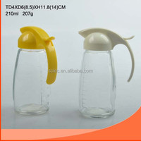 wholesale oil&sauce&liquid glass bottle and cruet with plastic lid for kitchen