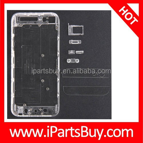 Best Selling Full Housing Transparent Plastic Replacement Back Cover for iPhone 5