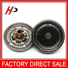 Newest fancy designer fashion outlook metal snap on buy UK metal buttons for men clothing