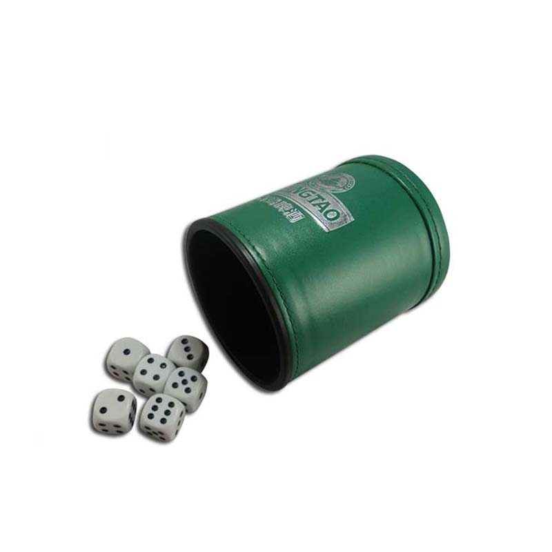 New Product Of Dice Cup with leather material, Soft Lint Inner PU/PVC Real Leather Dice Cup