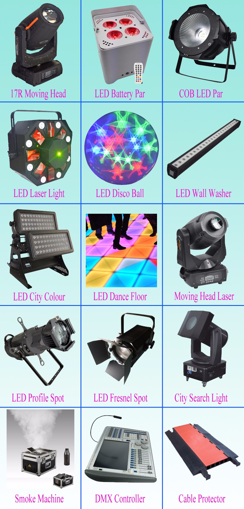 stage light moving head stage machine led par cable protector