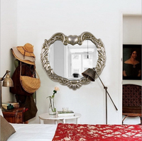 Heart shape decorative mirror european style furniture design decorative wall mirror for home decoration wall mirror