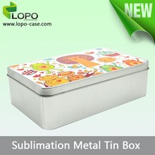 Promotional small Rectangular blank sublimated Metal Candy Gift Box