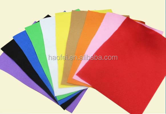 Colorful needle punched nonwoven felt carpet