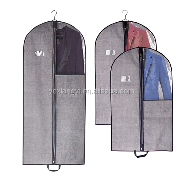 large size dress bag non woven folding zippered garment bags wholesale with window