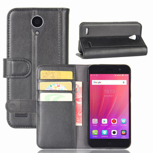 Good Quality Genuine Leather Card Holder Wallet Flip Leather Case For ZTE Blade A520