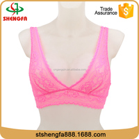 Shantou shengfa best selling new design pink sexy lace bra (accept OEM)