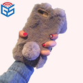 2018 Fashion Plush Cute Bunny Furry Phone Cases For Iphone 7 Plus / X