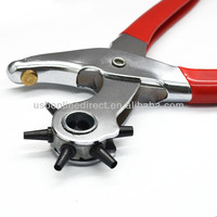 Round Nose Handy Revolving Hole Punch Tool Kit Eyelet Plier For Leather Fabric Canvas Paper