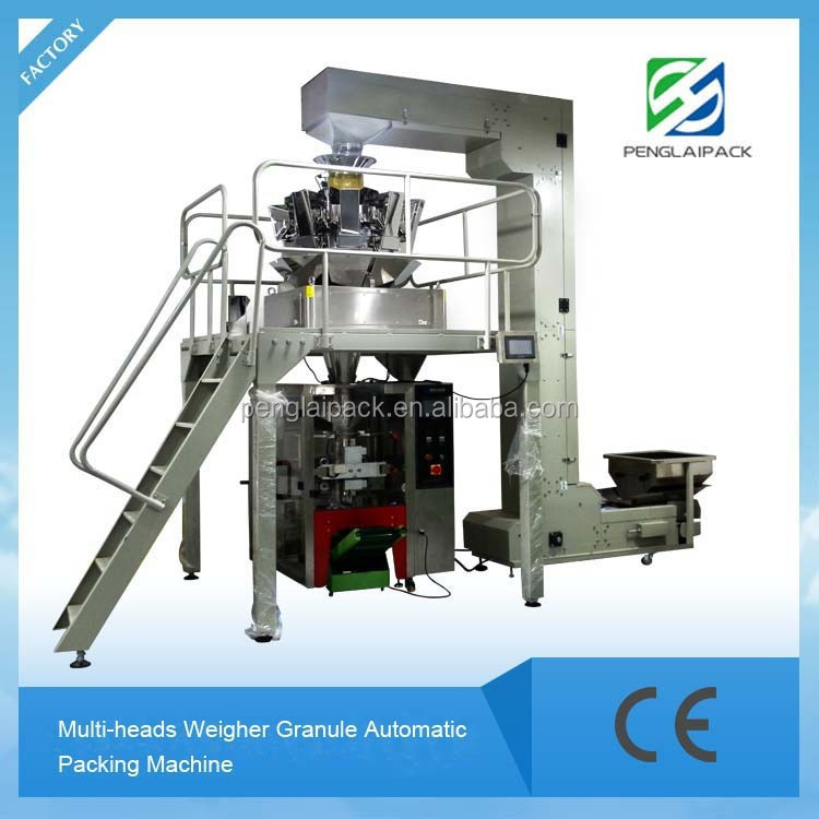 2015 Hot selling Fully-Automatic Granular Food Snack Pouch Sealing Packaging Machine