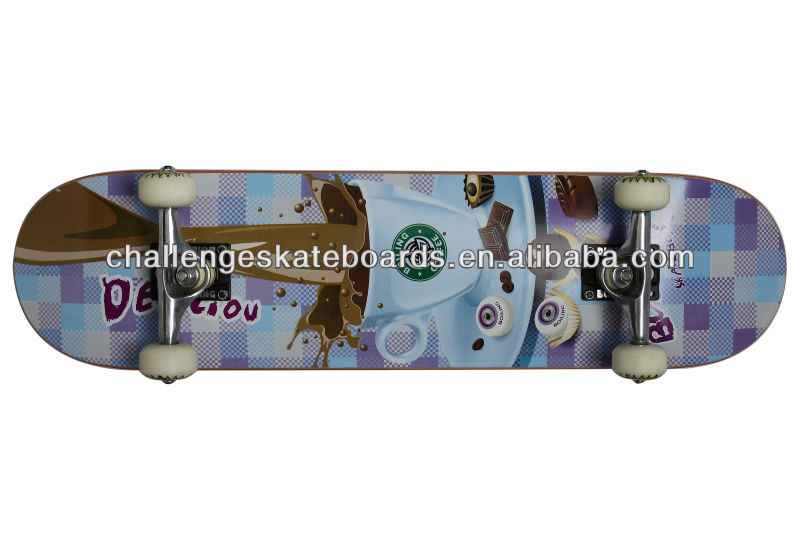 100% 7 ply Canadian maple skateboards complete wholesale