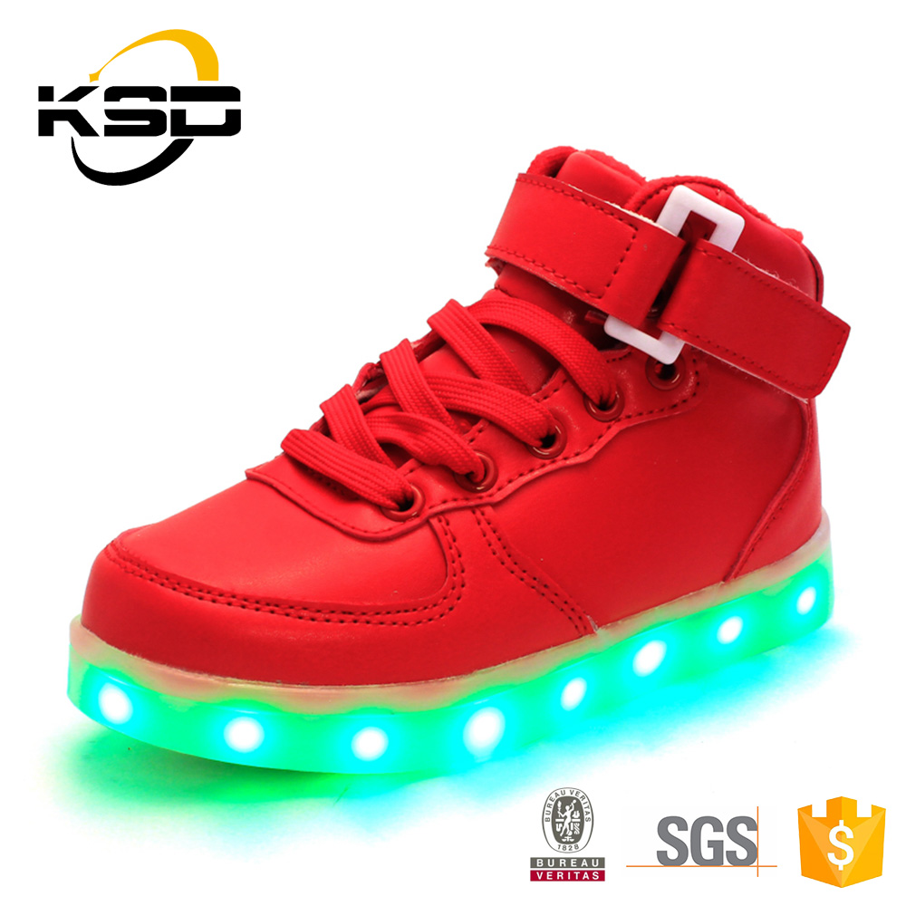 Smart Kids Fashion High Heel Shoes Comfortable LED Light Up Shoes