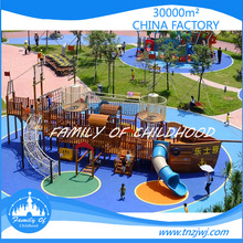 Big Slides Customized outdoor kids plastic pirate ship playground
