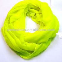 Fashion Plain Solid Neon Color Women's Cotton Voile Viscose Shawl