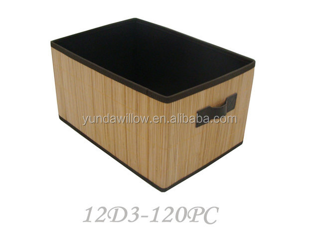 foldable bamboo storage basket