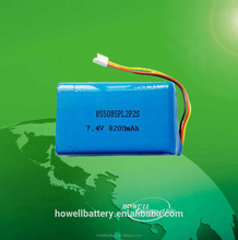 855085 2S Lithium Polymer Battery Pack 7.4V 8200mAh Rechargeable Lipolymer Battery Pack