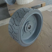 12*4.5 scissor lift tire mould on solid tyre 12x4.5 with rim assembly