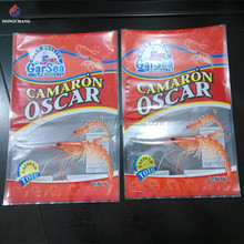 Custom printed laminated frozen food poly bag for seafood packaging