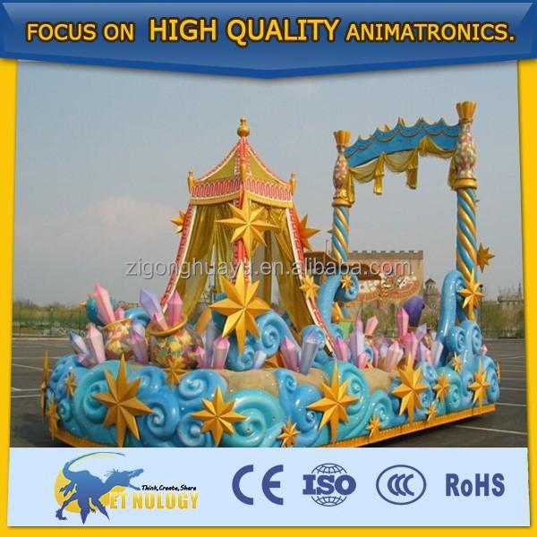 Cetnology amusement park decoration multiple parade float for Amusement park decoration ideas