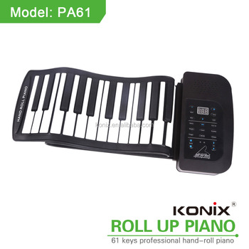 Portable Roll Up Piano Keyboard 61 Keys with Speaker World First With Rechargeable Battery