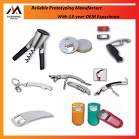 China Prototype Manufacturer Custom Different Types Stainless Steel Metal Beer Wine Bottle Opener