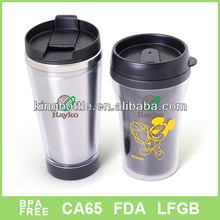 America popular custom logo personalized plastic travel mug