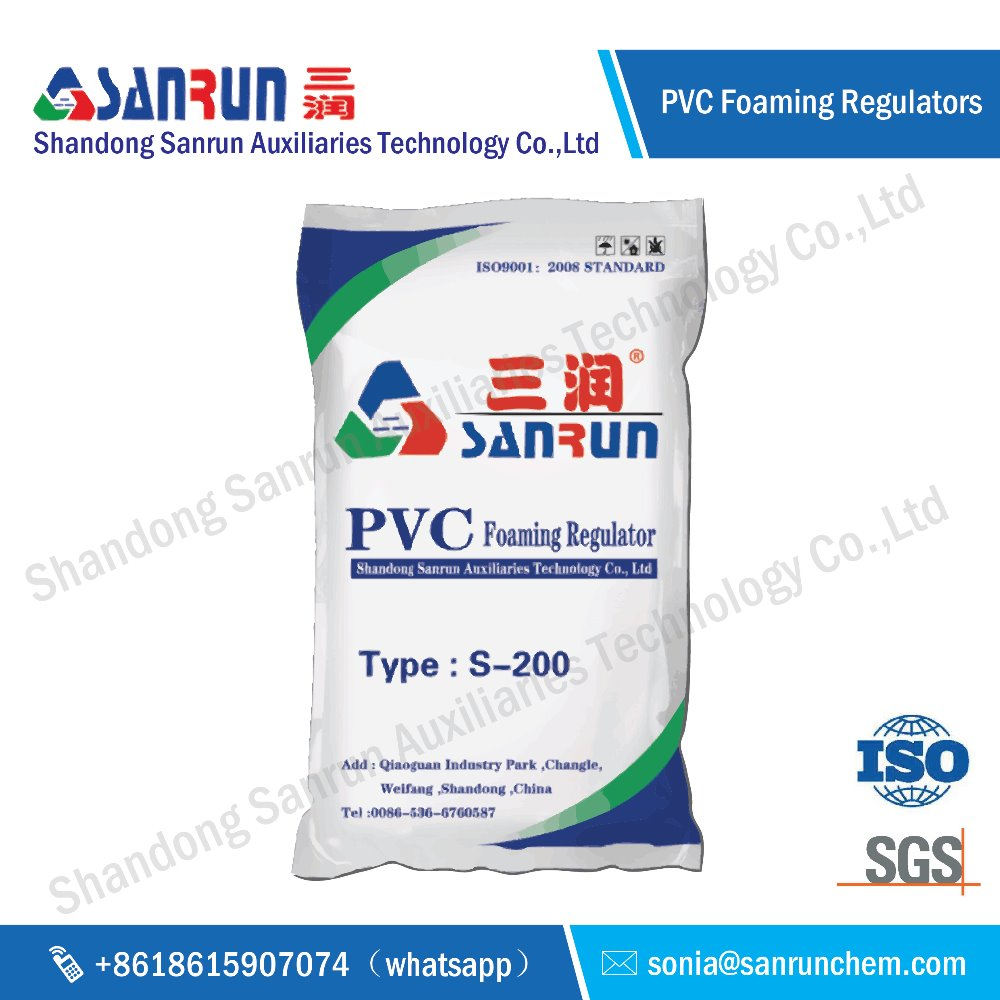 Sanrun 2017 New type PVC foaming regulator S-200 chemical auxiliary agent for PVC board in China