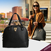 HEC Online Shopping Handmade Black Color College Leather Bags Handbag For Girls