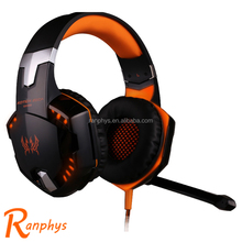 Ranphys high quality headset computer game mega bass headphone with microphone led for LOL DOTA