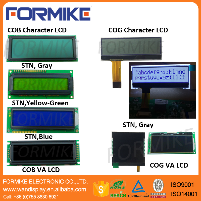 Character LCD modules COG(Chip On Glass) COB(Chip On Board)
