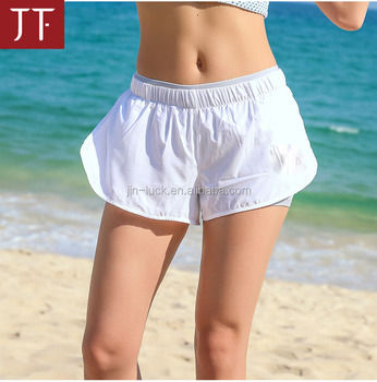 Factory price high quality yoga wear ladies nylon yoga shorts sports running shorts