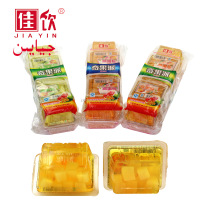 Fruity Flavor and Multi-Colored mango pudding jelly with nata de coco/rice pudding