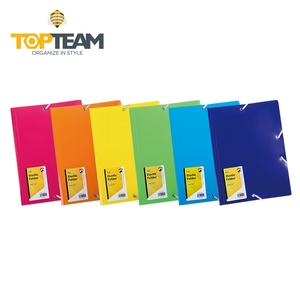 Factory custom a4 size pp file folder with elastic band