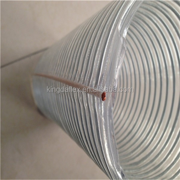 hot sales flexible spiral steel wire reinforcement pvc hose pipe