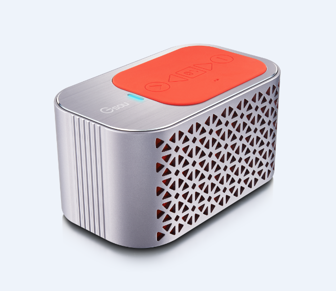 Aluminum hifi portable speaker with subwoofer, built-in 4400mAh rechargeable bluetooth speaker