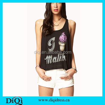 Wholesale plain loos tank top women's tank top shirt for woman tank top