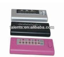 digital guitar and bass tuner silver/black/pink