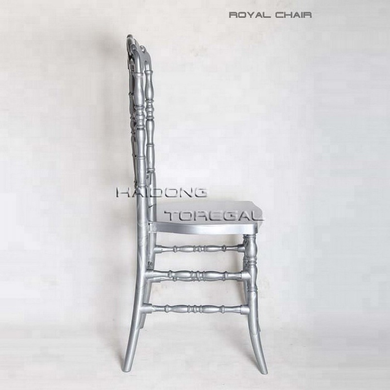 Wholesale Silver Color Plastic Royal Chiavai Chair Sets for Hotel