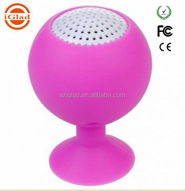 High quality Bathroom doss Wireless waterproof mini Bluetooth Speaker with Suction Cup